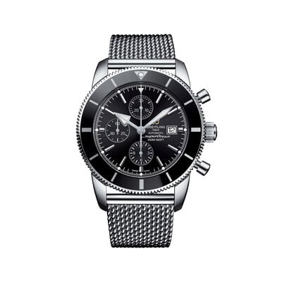 Breitling Superocean Heritage II Chronograph Men's 46mm Stainless Steel Watch - Black Dial, , default