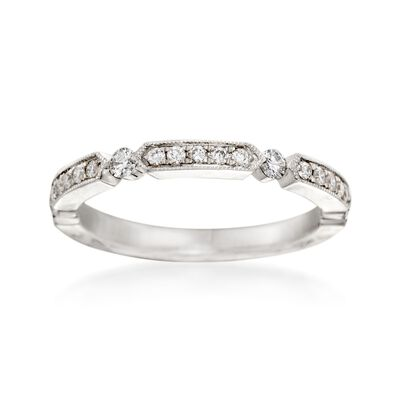 Henri Daussi .25 ct. t.w. Diamond Wedding Ring in 14kt White Gold, , default