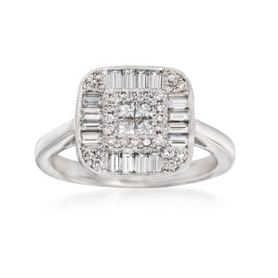 Gregg Ruth .96 ct. t.w. Diamond Ring in 18kt White Gold, , default
