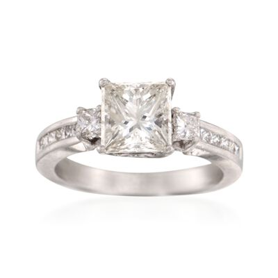 C. 2000 Vintage 2.57 ct. t.w.  Diamond Ring in Platinum