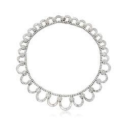 C. 1980 Vintage 40.70 ct. t.w. Diamond Collar Necklace in 18kt White Gold, , default