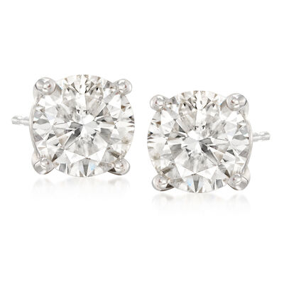 C. 2000 Vintage 4.02 ct. t.w. Diamond Stud Earrings