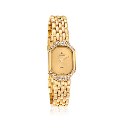 C. 1980 Vintage Concord Women's .45 ct. t.w. Diamond 17mm Watch in 14kt Yellow Gold, , default
