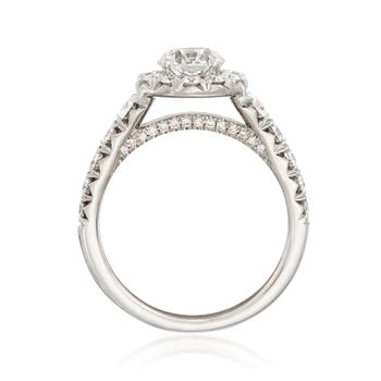 Henri Daussi 1.83 ct. t.w. Certified Diamond Halo Engagement Ring in 18kt White Gold, , default