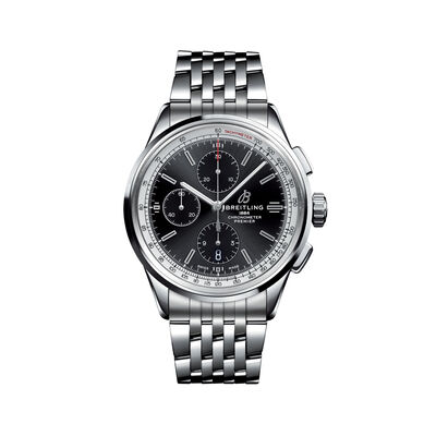 Breitling Premier Chronograph Men's 42mm Stainless Steel Watch, , default