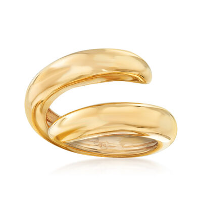 C. 1990 Vintage Chaumet Coil Ring in 18kt Yellow Gold, , default