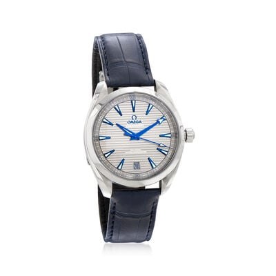 Omega Seamaster Aqua Terra Men's 41mm Automatic Stainless Steel Watch with Blue Leather Strap