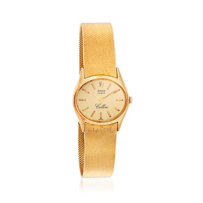 C. 1960 Vintage Rolex Cellini Women's 25mm Manual Watch in 14kt Yellow Gold, , default
