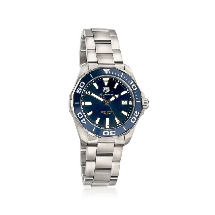 TAG Heuer Aquaracer 41mm Men's Stainless Steel Watch with Blue Dial, , default