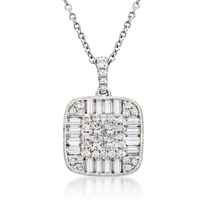 Gregg Ruth 1.26 ct. t.w. Diamond Pendant Necklace in 18kt White Gold