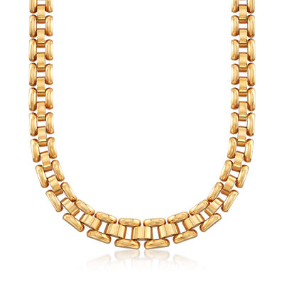 C. 1980 Vintage Chopard Link Necklace in 18kt Yellow Gold, , default