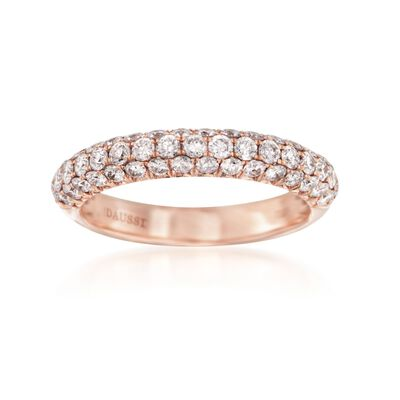 Henri Daussi 1.00 ct. t.w. Diamond Band in 14kt Rose Gold, , default