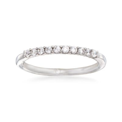 Gabriel Designs .22 ct. t.w. Diamond Wedding Ring in 14kt White Gold, , default