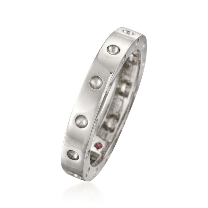"""Roberto Coin """"Pois-Moi"""" 18kt White Gold Dotted Ring"""