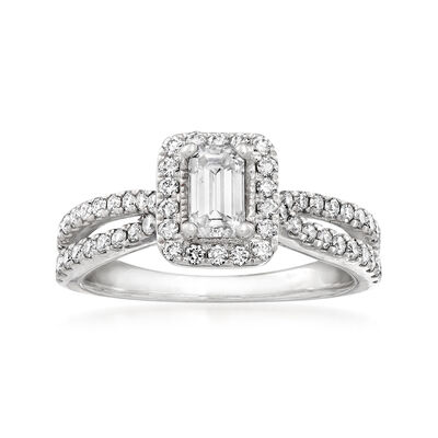 C. 2000 Vintage 1.05 ct. t.w. Diamond Ring in 14kt White Gold