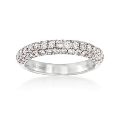 Henri Daussi .95 ct. t.w. Diamond Band in 14kt White Gold, , default