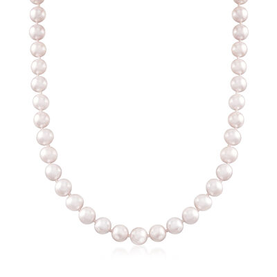 C. 1990 7-7.5mm Cultured Pearl Necklace with Sterling Silver, , default