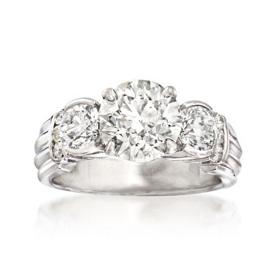 Majestic Collection 3.70 ct. t.w. Diamond Ring in 18kt White Gold, , default