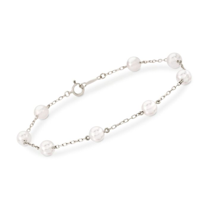 Mikimoto 5-5.5mm A+ Akoya Pearl Bracelet in 18kt White Gold