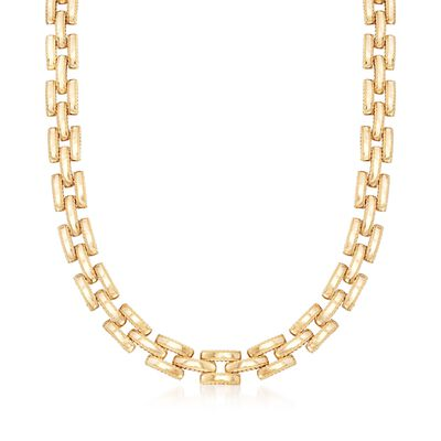 "Roberto Coin ""Retro"" 18kt Yellow Gold Link Necklace, , default"