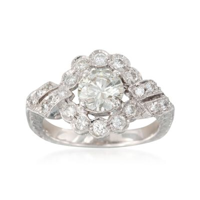 C. 2000 Vintage 1.45 ct. t.w. Diamond Ring in Platinum, , default