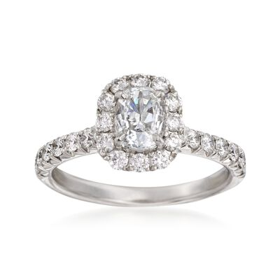Henri Daussi 1.57 ct. t.w. Diamond Engagement Ring in 18kt White Gold, , default