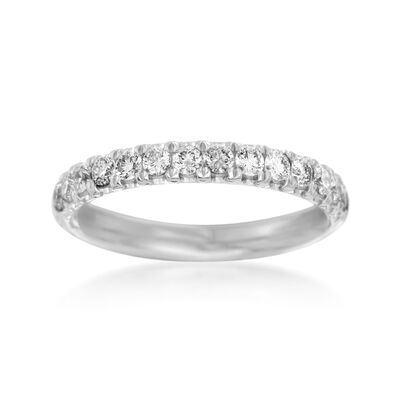Henri Daussi .47 ct. t.w. Diamond Wedding Ring in 14kt White Gold