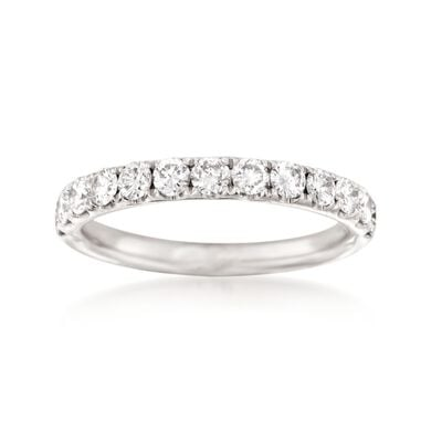 Henri Daussi .75 ct. t.w. Diamond Wedding Ring in Platinum, , default