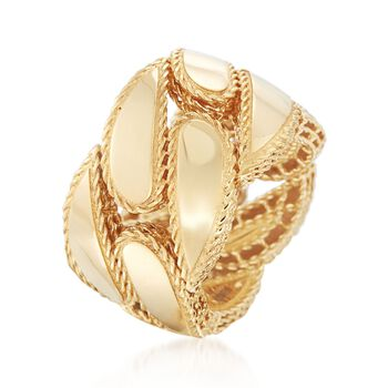 Roberto Coin Gourmette 18-Karat Yellow Gold Band. Size 6.5, , default