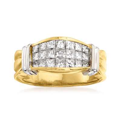 C. 1980 Vintage 1.25 ct. t.w. Diamond Ring in 14kt Two-Tone Gold