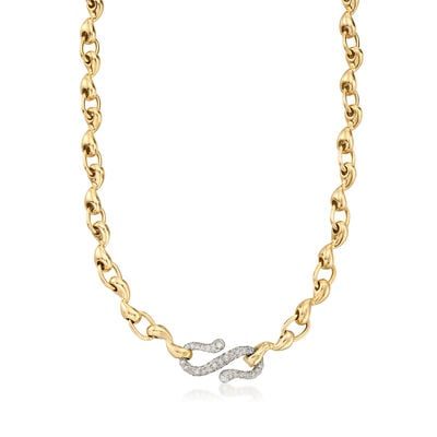 C. 1990 Vintage Tiffany Jewelry 1.70 ct. t.w. Diamond Necklace in 18kt Yellow Gold, , default