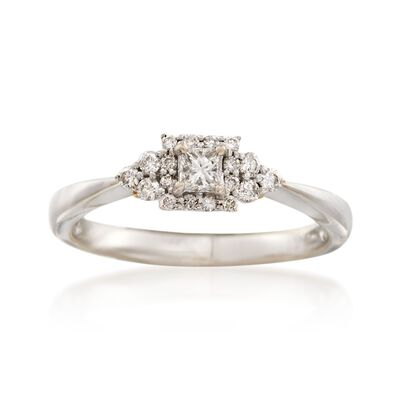 C. 2000 Vintage .45 ct. t.w. Diamond Ring in 14kt and 18kt Gold, , default