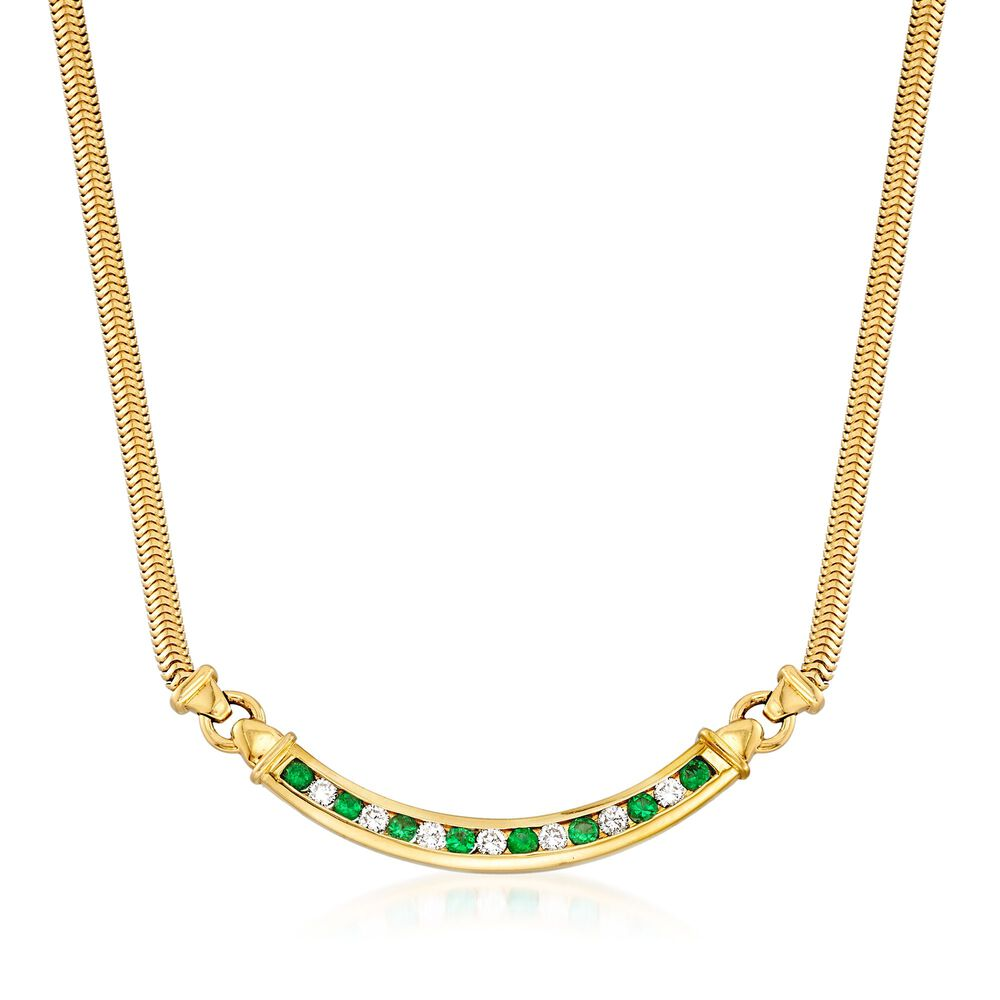 dae1987c91cae C. 1980 Vintage Tiffany Jewelry .80 ct. t.w. Emerald and .55 ct ...
