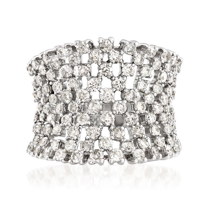 3.00 ct. t.w. Diamond Concave Wide Ring in 18kt White Gold, , default
