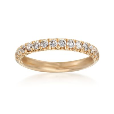 Henri Daussi .47 ct. t.w. Diamond Wedding Ring in 14kt Yellow Gold, , default