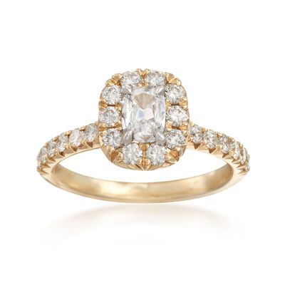 Henri Daussi 1.14 ct. t.w. Diamond Engagement Ring in 14kt Yellow Gold, , default