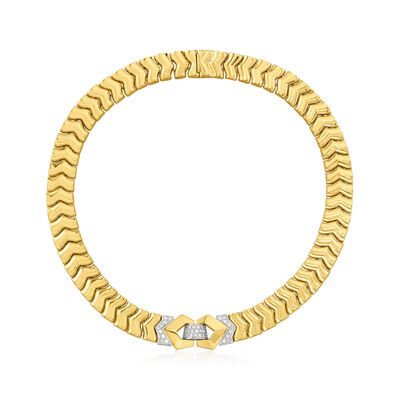 C. 1980 Vintage 1.00 ct. t.w. Diamond Collar Necklace in 18kt Yellow Gold