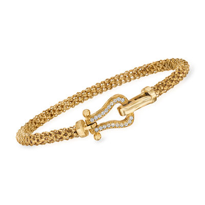 "Phillip Gavriel ""Popcorn"" .20 ct. t.w. Diamond Bracelet in 14kt Yellow Gold, , default"