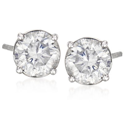 C. 2000 Vintage 4.38 ct. t.w. Diamond Stud Earrings in 14kt White Gold, , default