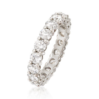 2.80 ct. t.w. Diamond Eternity Band in Platinum. Size 6
