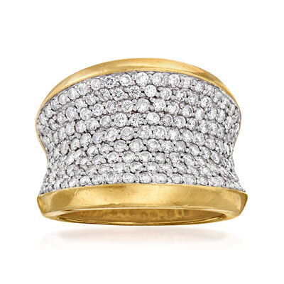 C. 1980 Vintage 1.93 ct. t.w. Pave Diamond Ring in 18kt Yellow Gold
