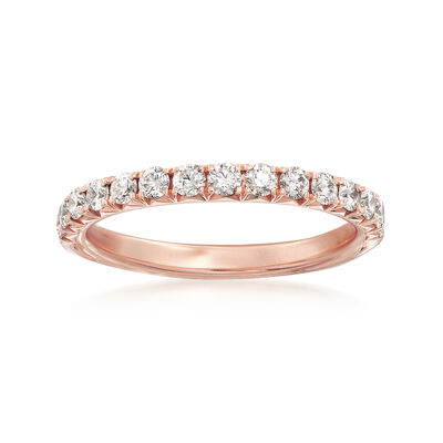 Henri Daussi .45 ct. t.w. Diamond Wedding Ring in 18kt Rose Gold, , default