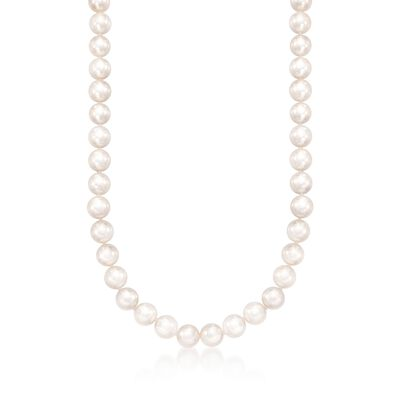 Mikimoto 7-7.5mm Grade 'A' Akoya Pearl Necklace in 18kt White Gold