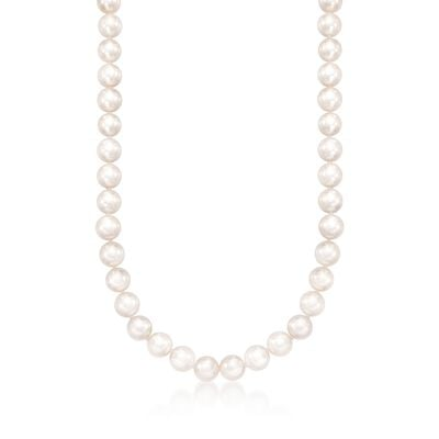 Mikimoto 7-7.5mm Grade 'A' Akoya Pearl Necklace in 18kt White Gold, , default
