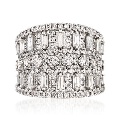 2.00 ct. t.w. Diamond Wide Ring in 18kt White Gold, , default