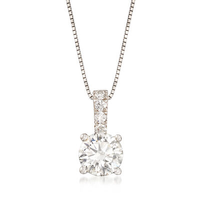 1.05 ct. t.w. Diamond Pendant Necklace in 14kt White Gold, , default