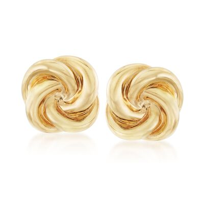 Italian 14kt Yellow Gold Swirl Clip-On Earrings, , default