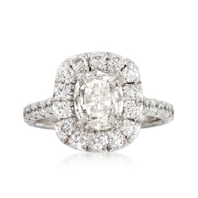 Henri Daussi 1.83 ct. t.w. Certified Diamond Engagement Ring in 18kt White Gold, , default