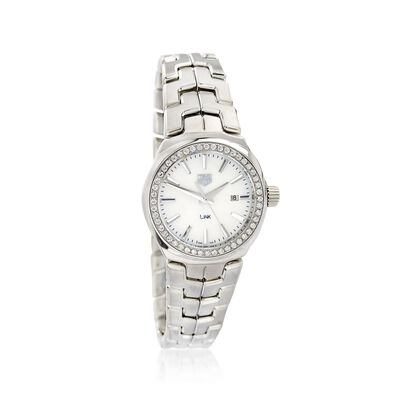 TAG Heuer Link Women's 32mm .80 ct. t.w. Diamond Watch in Stainless Steel with Mother-Of-Pearl Dial, , default