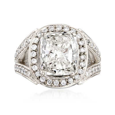 Majestic Collection 6.18 ct. t.w. Certified Diamond Ring in Platinum